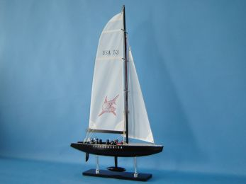 Wooden Young America Model Sailboat Decoration 30""