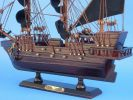 Wooden Black Bart's Royal Fortune Model Pirate Ship 15""