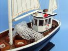 Wooden Keel Over Model Fishing Boat 18""
