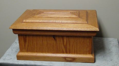 Medium Oak Wooden Casket