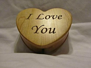 Personalized Wooden Heart Keepsake Box- I Love You