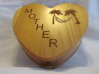Personalized Heart Keepsake Box With Diagonal Name And Image