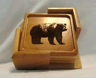 Custom Wood Coaster Set - Engraved Outdoors Designs