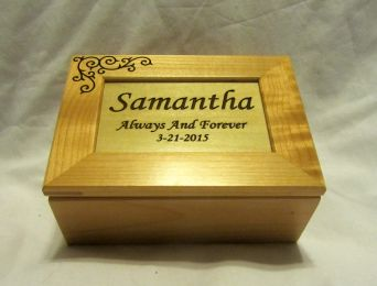 Personalized Wooden Keepsake Box -