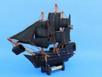 Wooden Caribbean Pirate Ship Model 7""
