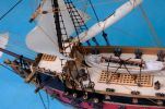 "Black Bart's Royal Fortune Model Pirate Ship 24"" - White Sails"
