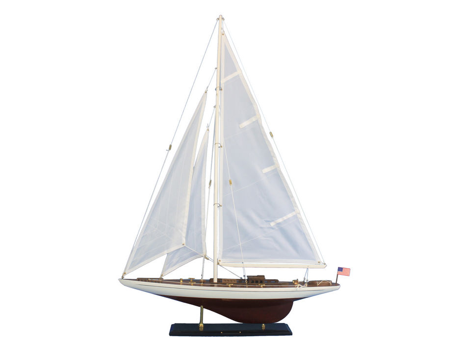 Wooden ranger model sailboat decoration 35 for Decoration yacht