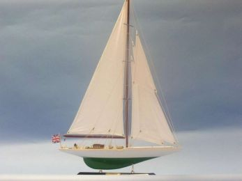 Wooden Shamrock Limited Model Sailboat 27""