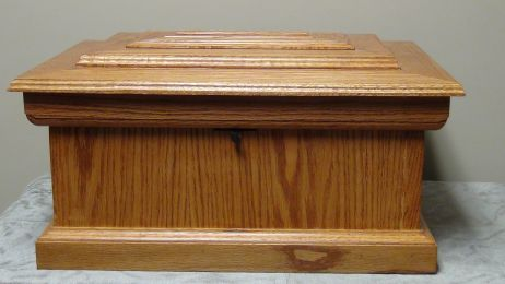 Oak Pet Casket (Size: Medium)