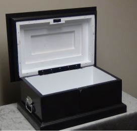 Pine Pet Caskets (Size: Medium, Color of Casket: Black)